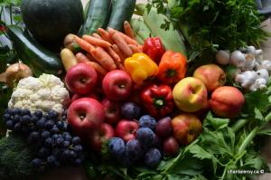 assortiment de fruits et légumes du marché