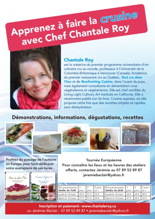 Raw Cuisine Classes with Chantale in France!