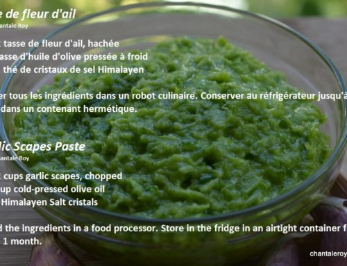 Garlic Scapes Paste (raw recipe)