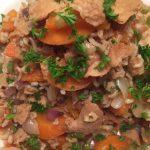 Riz frit à la PVT (protéine végétale texturée) et cuisine toujours prête!